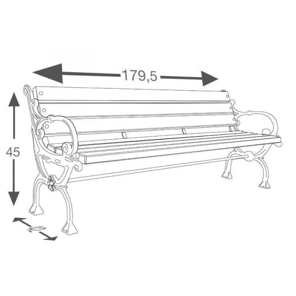 BCV-013 - Cast Footed Bench-2