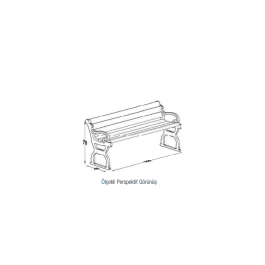 BCV-014 - Cast Footed Bench-1